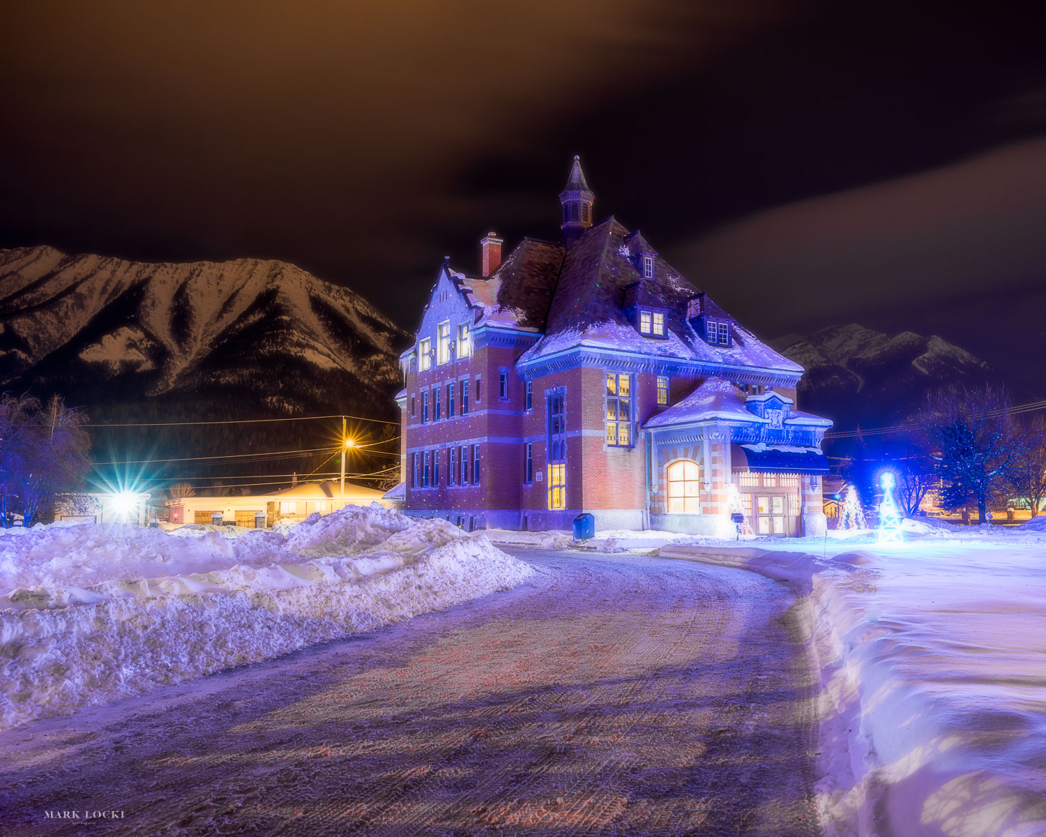 Fernie Courthouse at Night