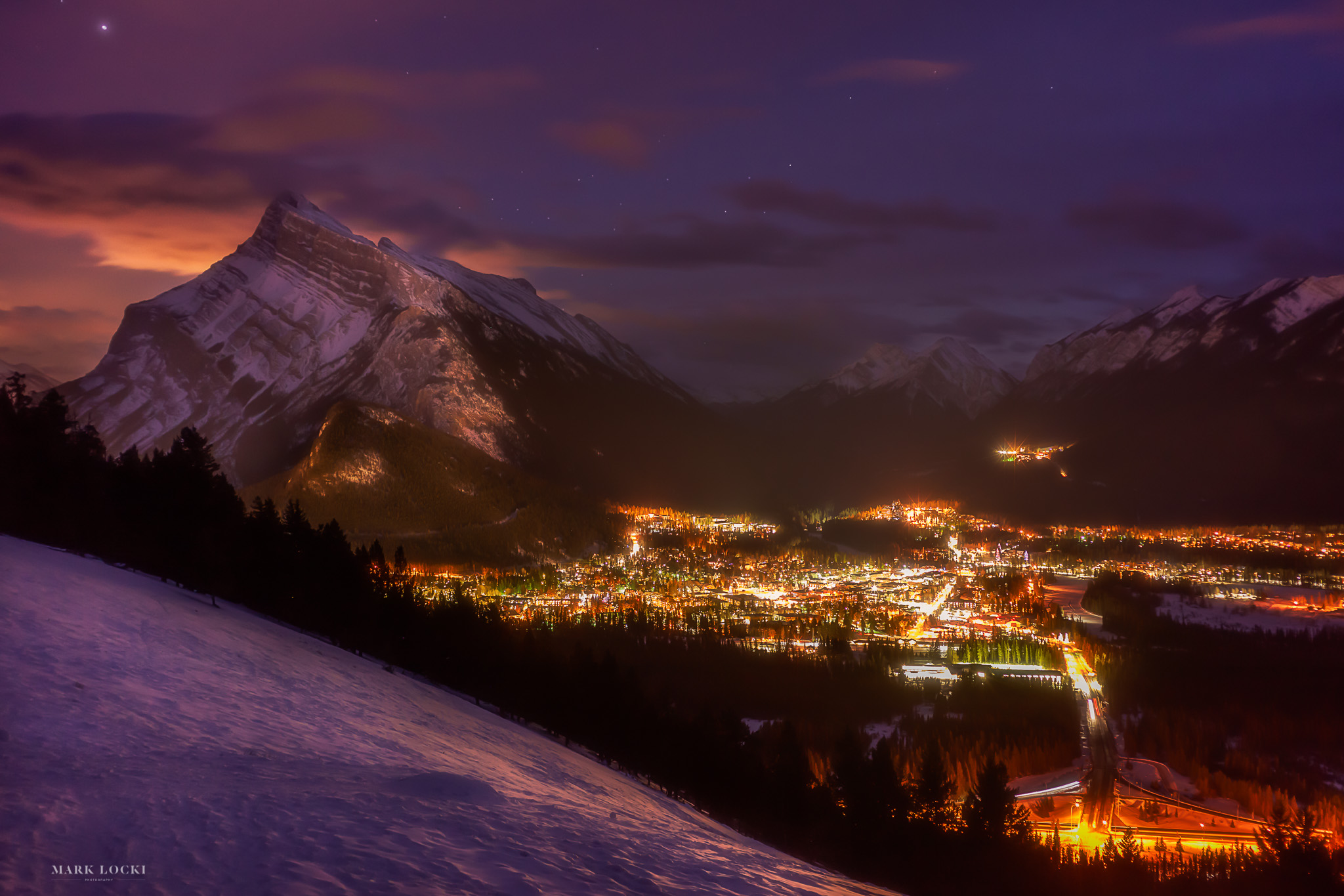 Rundle After Dark - Limit of 30 Matted Prints available