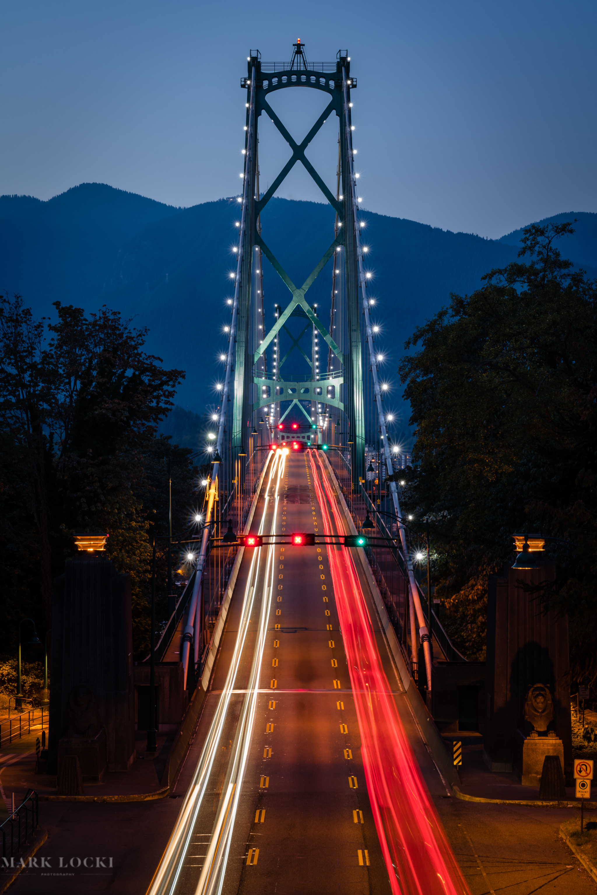 Lion's Gate Bridge Blue Hour