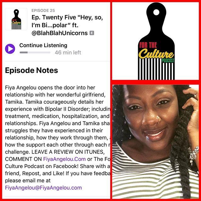 "🚨New episode alert🚨""Hey, so, I'm Bi...polar"" ft. @blahblah_unicorns is live!!! Listen, comment, share!!! #TheForTheCulturePodcast #FiyaAngelou  #BlackCulture #ScholasticHilarity #PalatableAdvocacy #CulturalCommentary #BlackPodcaster #BlackWomenPodcasts #BlackAndQueer  #BlackPodcast #bipolardisorder #mentalillness"
