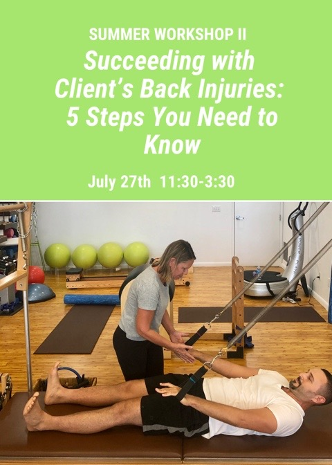stay tuned - for the next pilates for injuries workshops