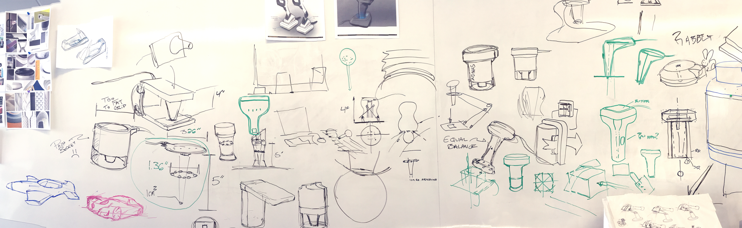 Whiteboard sketches, the rawest of all sketches.
