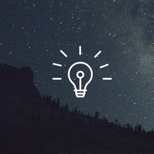 lightbulb image with nightsky