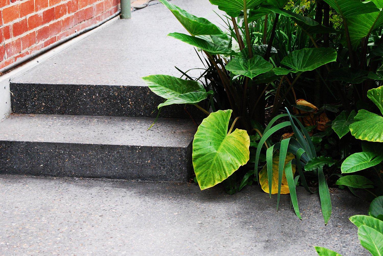 honed concrete steps