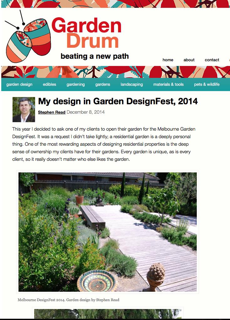Garden Drum Blog 2014