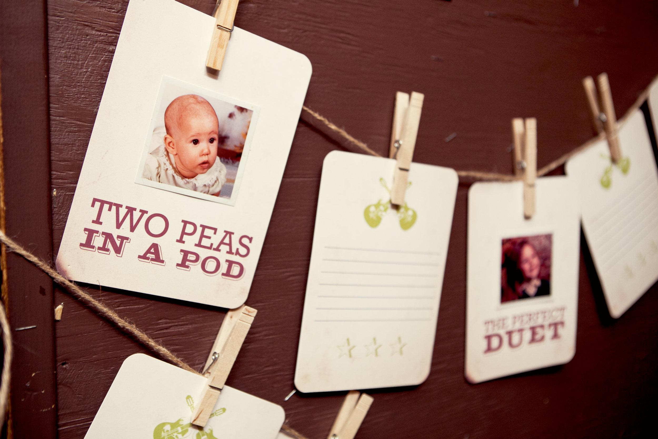 """Two Peas in a Pod"" and ""The Perfect Duet"" are just 2 of the cards we did."