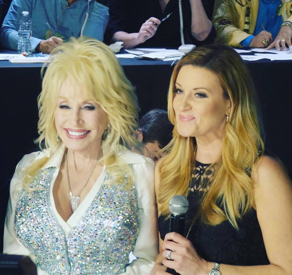 Dolly and Kelly at the Telethon supporting the Gatlinburg Fire Victims, Fall 2016.