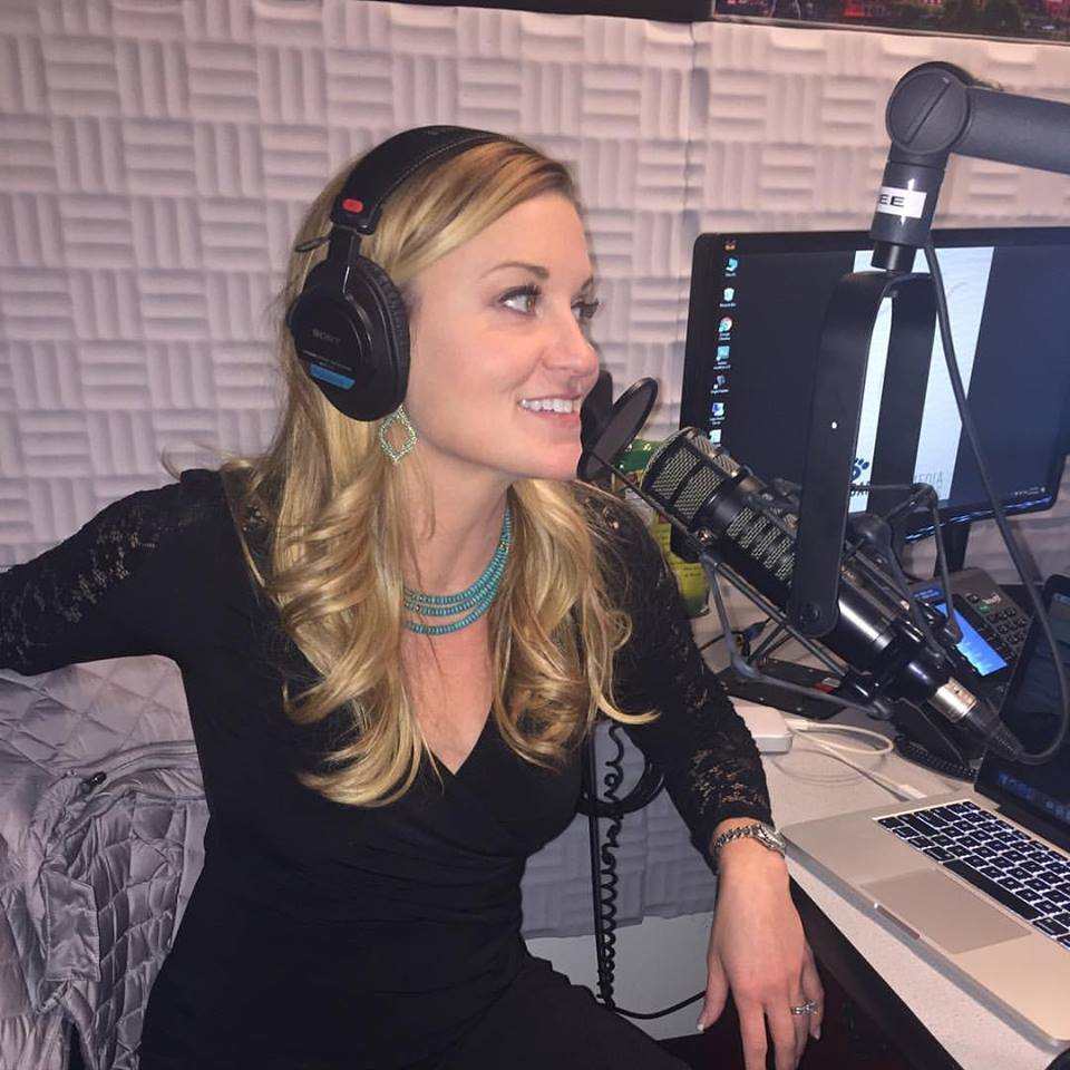 Kelly doing her radio show on TuneIn