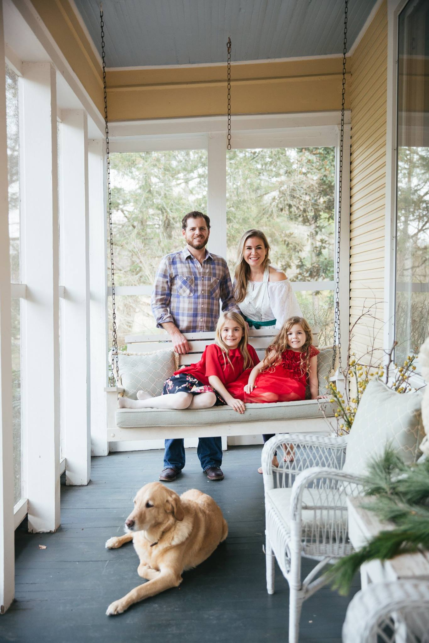 Deann and her beautiful family at home