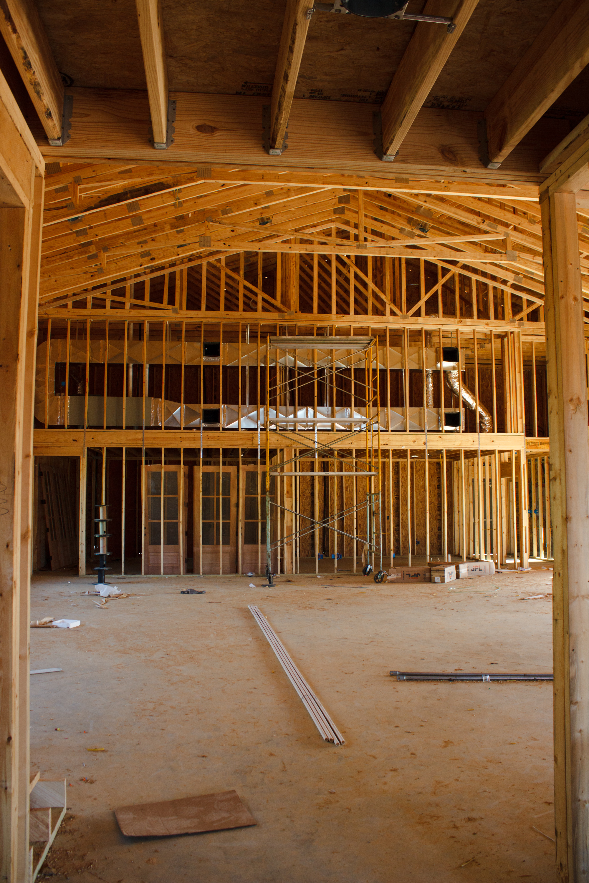 This is part of the main hall. We will have a storage area for tables/chairs and a catering kitchen.