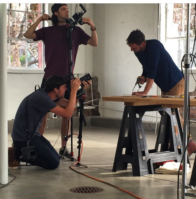 Picture Michele took on set with HGTV personality, Dan Faires
