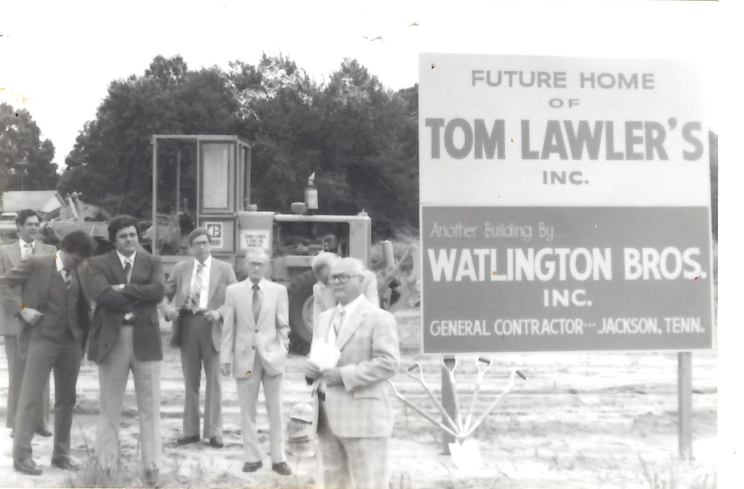 Groundbreaking ceremony for Tom Lawler's, Inc (early 1980s)
