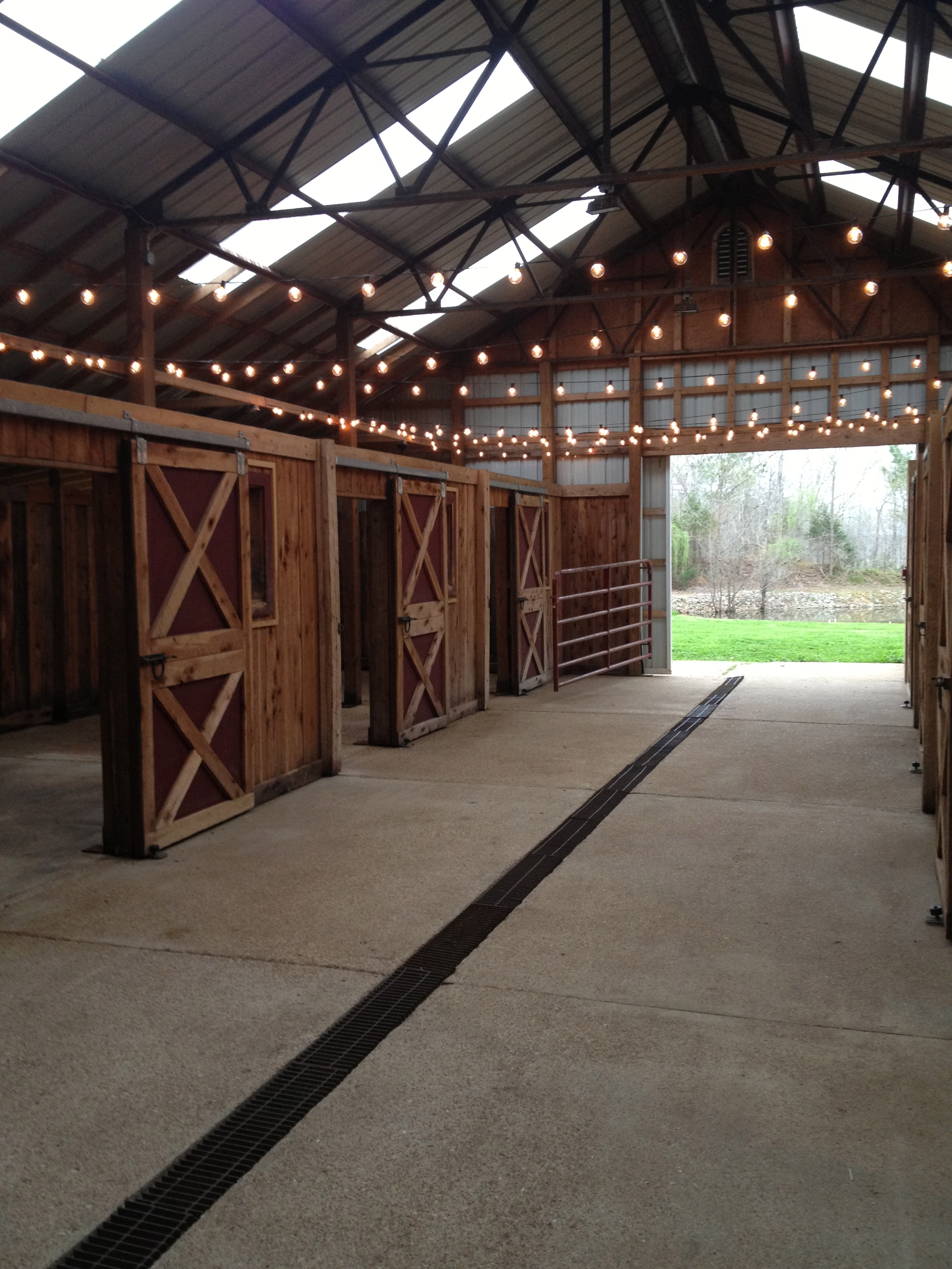 "Our 6-stall ""horse barn"" converted to a party/hangout spot"