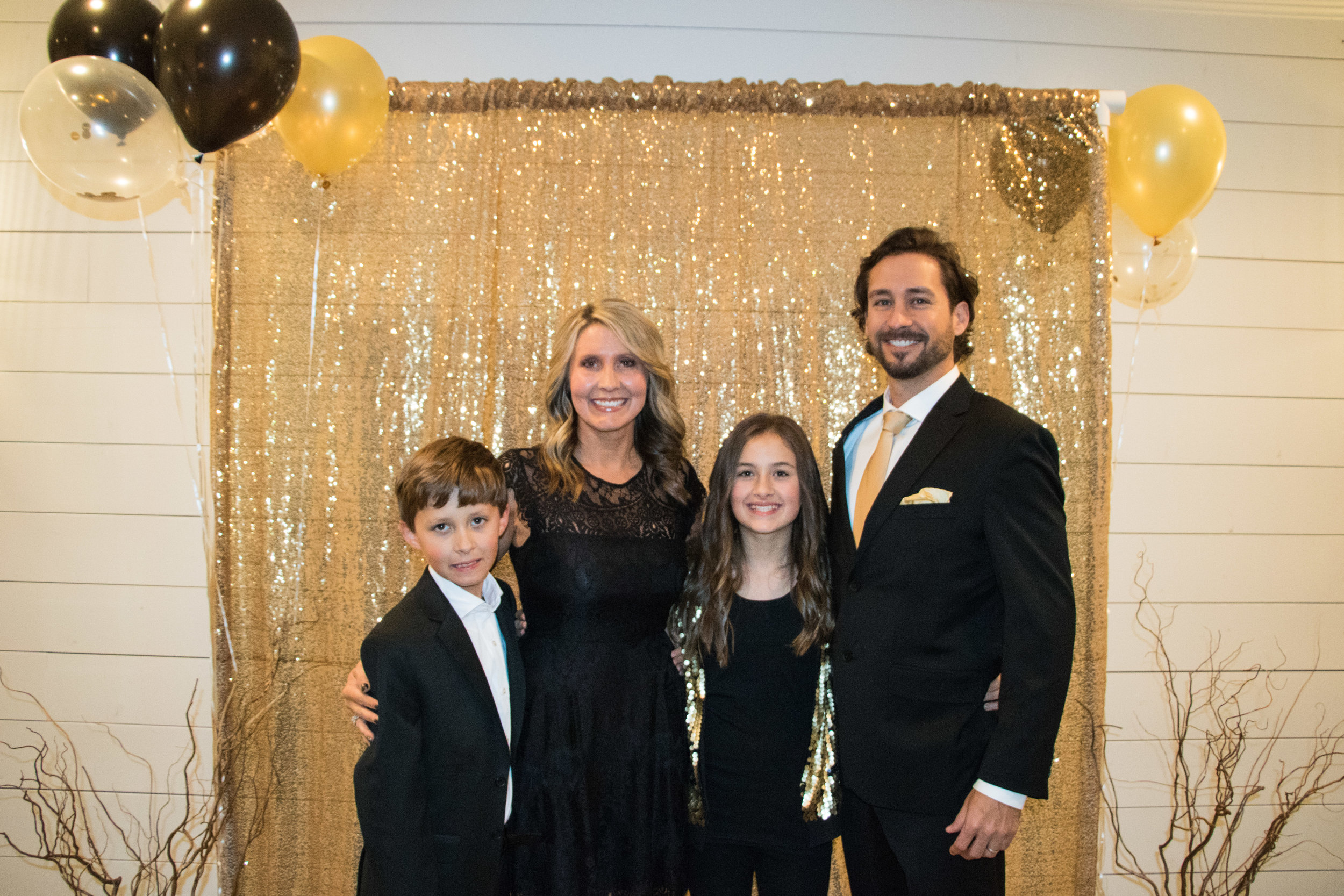 Our whole family got in on the Black and Gold theme!