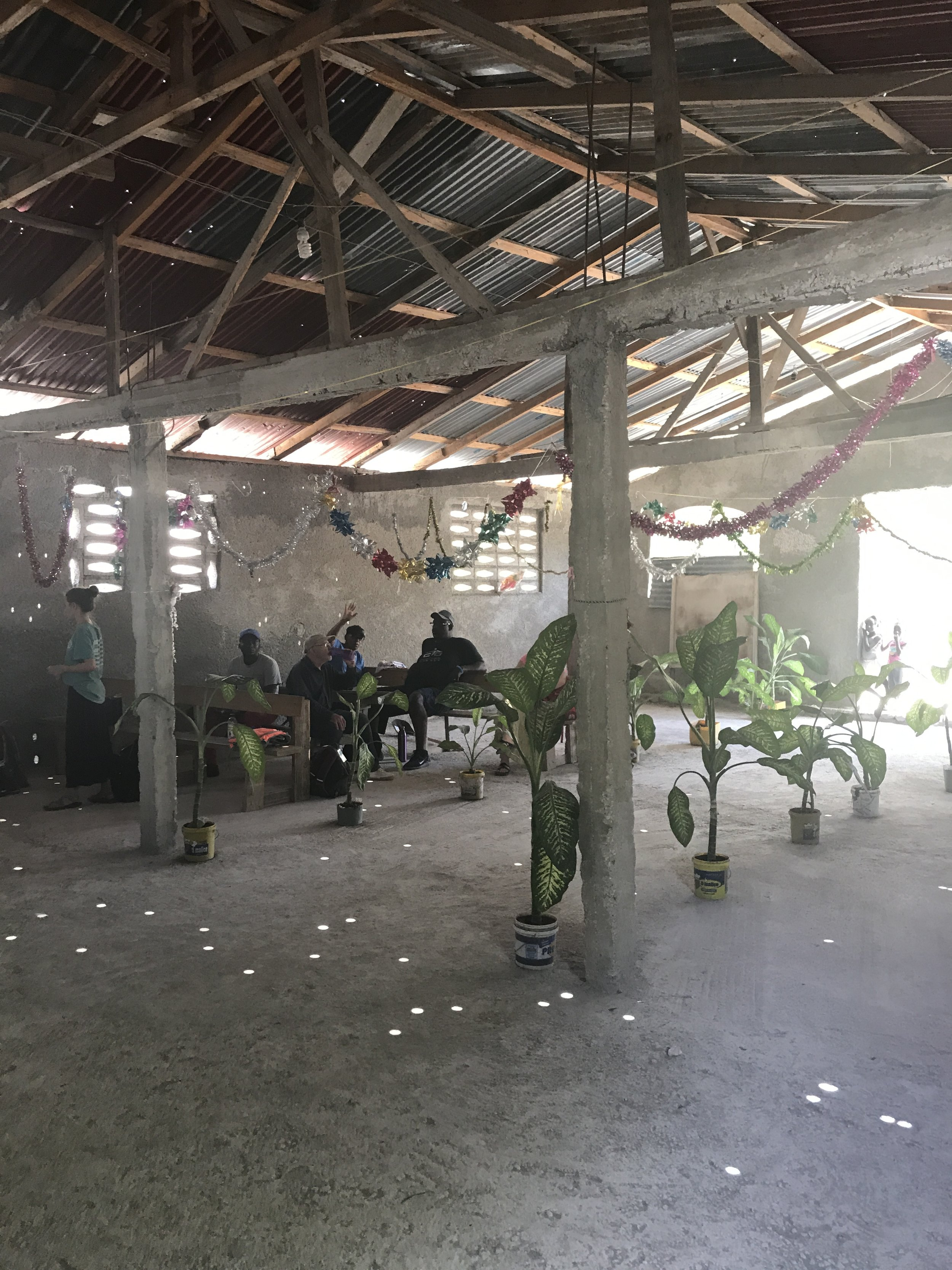 "The local Haitian church that served as our ""home base"" for the week"