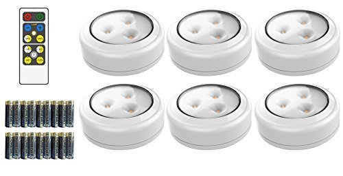 LED Lighting Puck set with remote from Amazon
