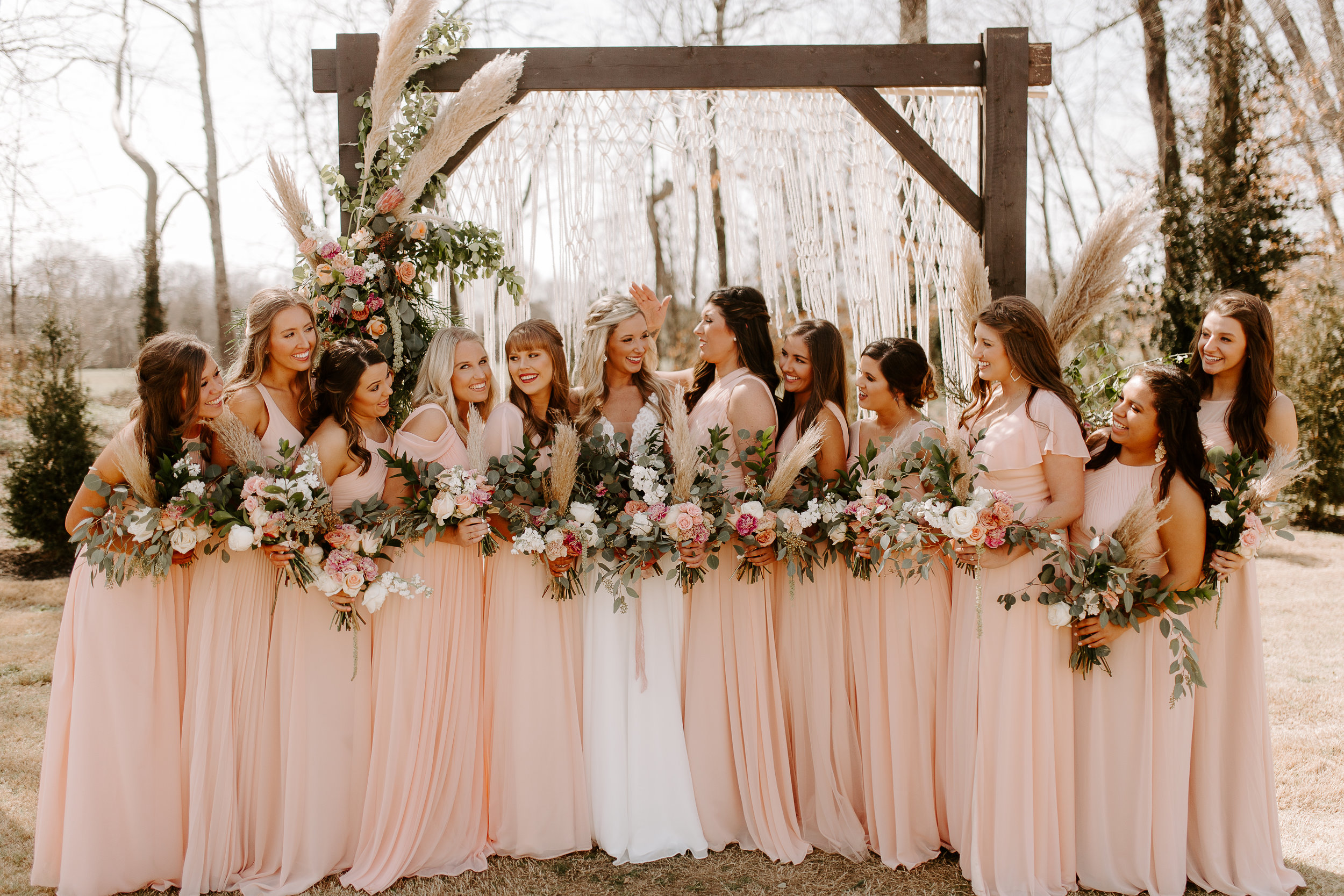 Bridal Party Blush Pink Dresses