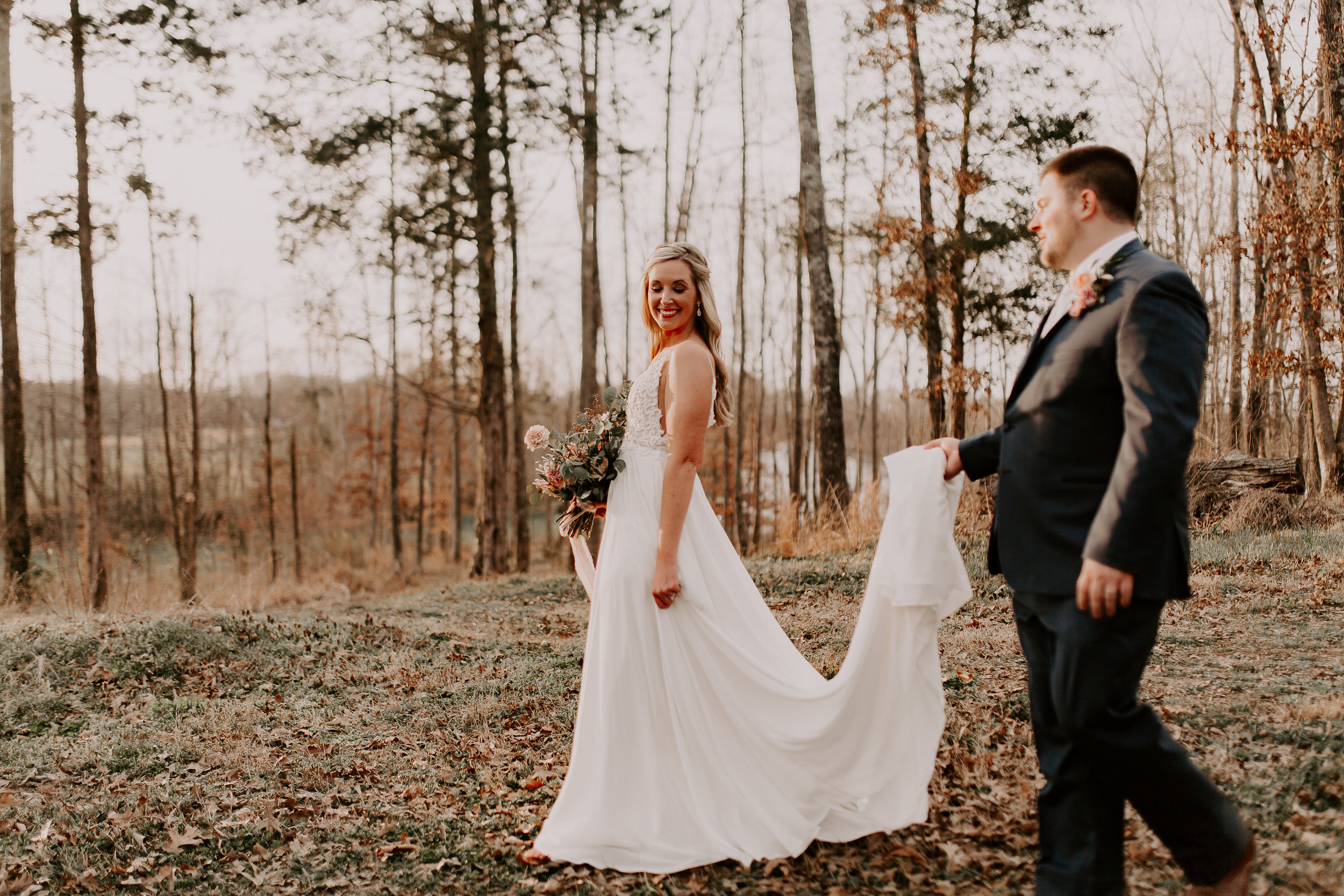 Bride and Groom Tennessee Destination Wedding