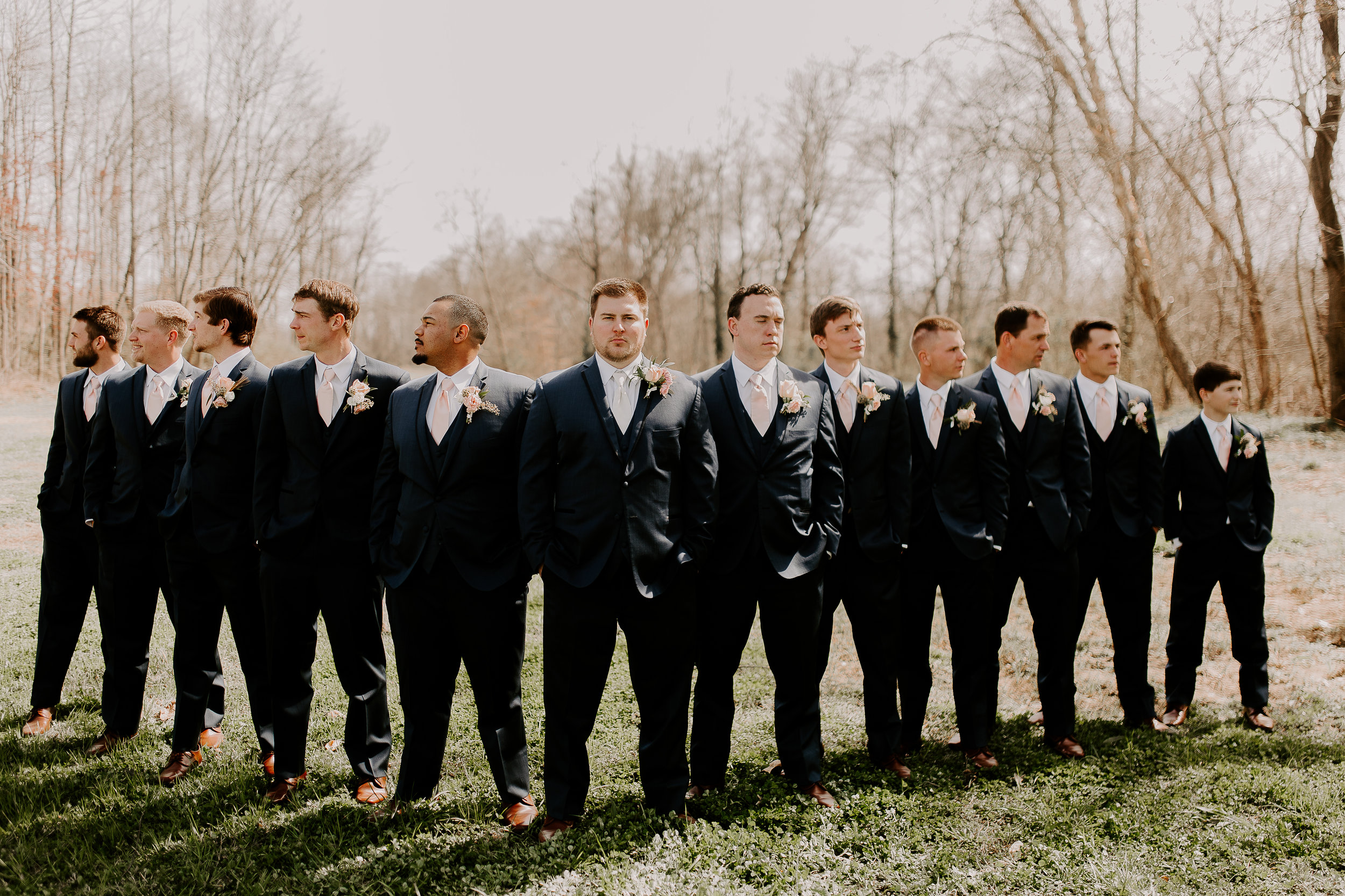 Groom and Groomsmen Spring Wedding