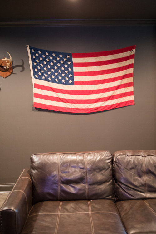 American Flag in Groom's Suite