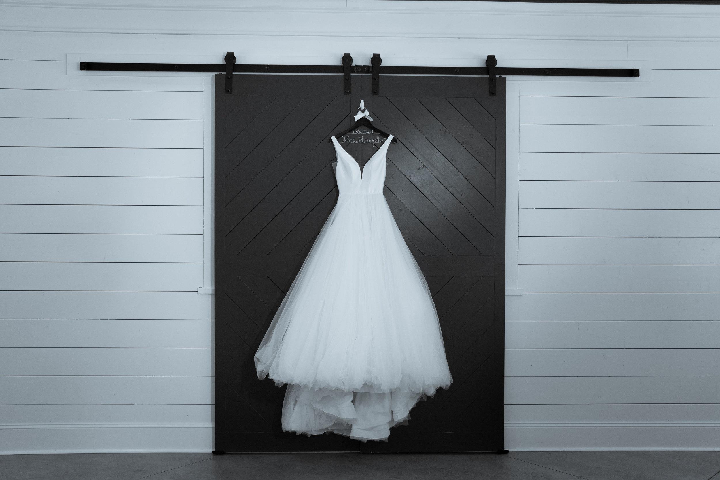 Wedding Dress infront of barn doors .jpg