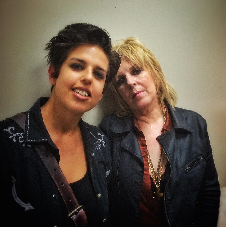 MG with Lucinda backstage