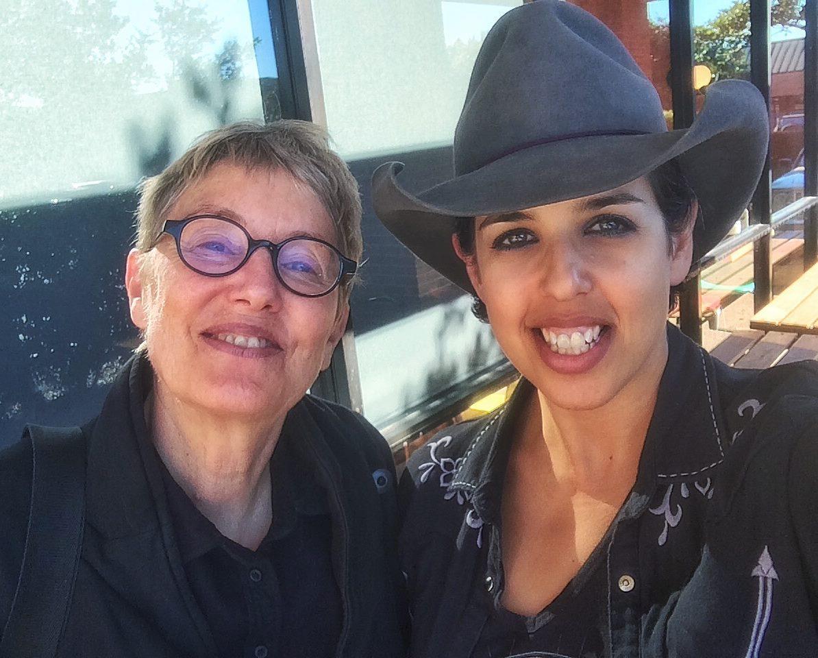 MG with pal Eliza Gilkyson