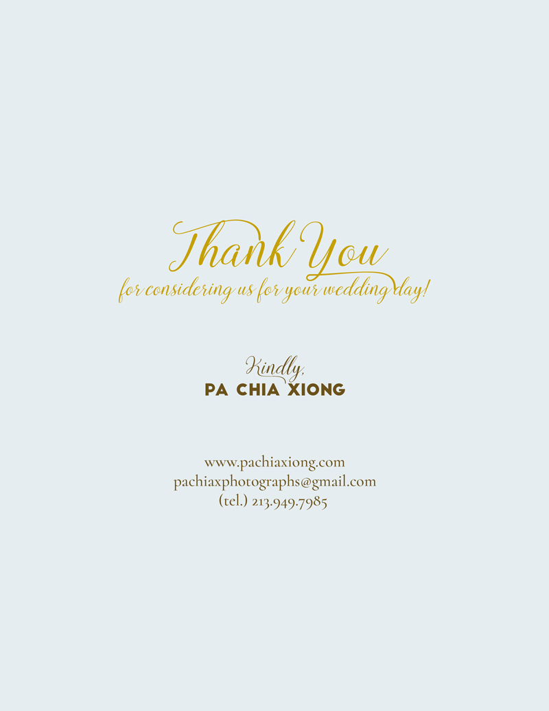 Did we miss anything? - Thank you getting this far! We hope to be your wedding photographer. Please email us anything we missed to inform you.Contact Us