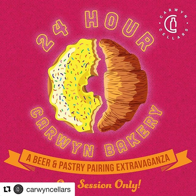 Together with @tallboyandmoose we have been working on a pastry to compliment a special beer that they have been making for you!! we're excited to share it with you guys in a few weeks!! Hope to see you at @carwyncellars. . Repost @carwyncellars with @get_repost ・・・ Yup it's actually happening. 24 hours or beer and bakery. Only an event this ridiculous can do the style that is pasty stout (or pastry beer) justice.  The midnight-9am session is strictly ticketed and include the following beer and bakery pairings:  @lunecroissant (Fitzroy) & @garageproject (NZ) @northcotebakeshop (Northcote) & @tallboyandmoose (Preston) @ovensstreetbakery (Fitzroy) & @3ravensbrewery (Thornbury) @eatcannoli (Preston) & @eviltwinbrewing (USA) @icecreamsocialists (Thornbury) & @thebruery (USA) @publiquebakery (Preston) & @toolbeer (Denmark) @rustica_hq (Fitzroy) & @uiltjecraftbeer (Netherlands) *Mystery Bakery* & @duggesbryggeri / @omnipollo (Sweden)  Tickets go on sale at exactly midnight tomorrow night from Eventbrite and are $100ea. + BF -Free entry from 9am, at which point we will have extras of all the pastries for sale (inc Lune)! More info to come !!