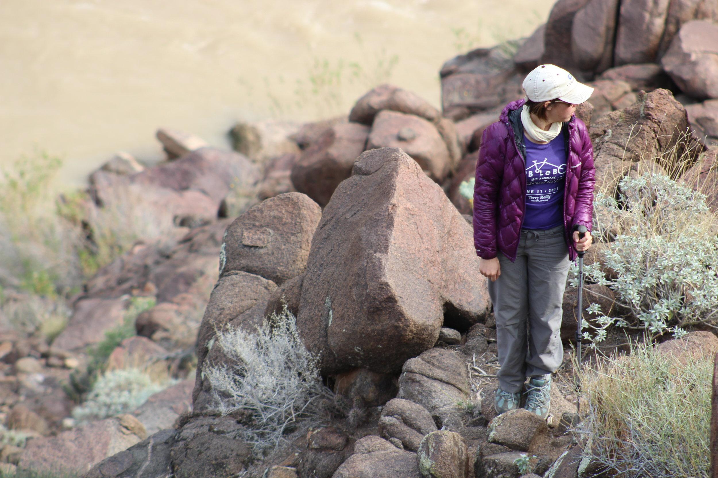 Exploring our campsite.