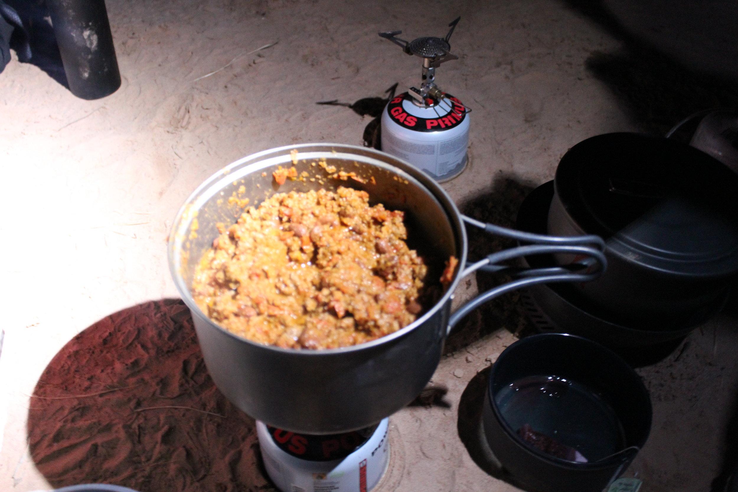 Homemade chili for dinner.  Yum.