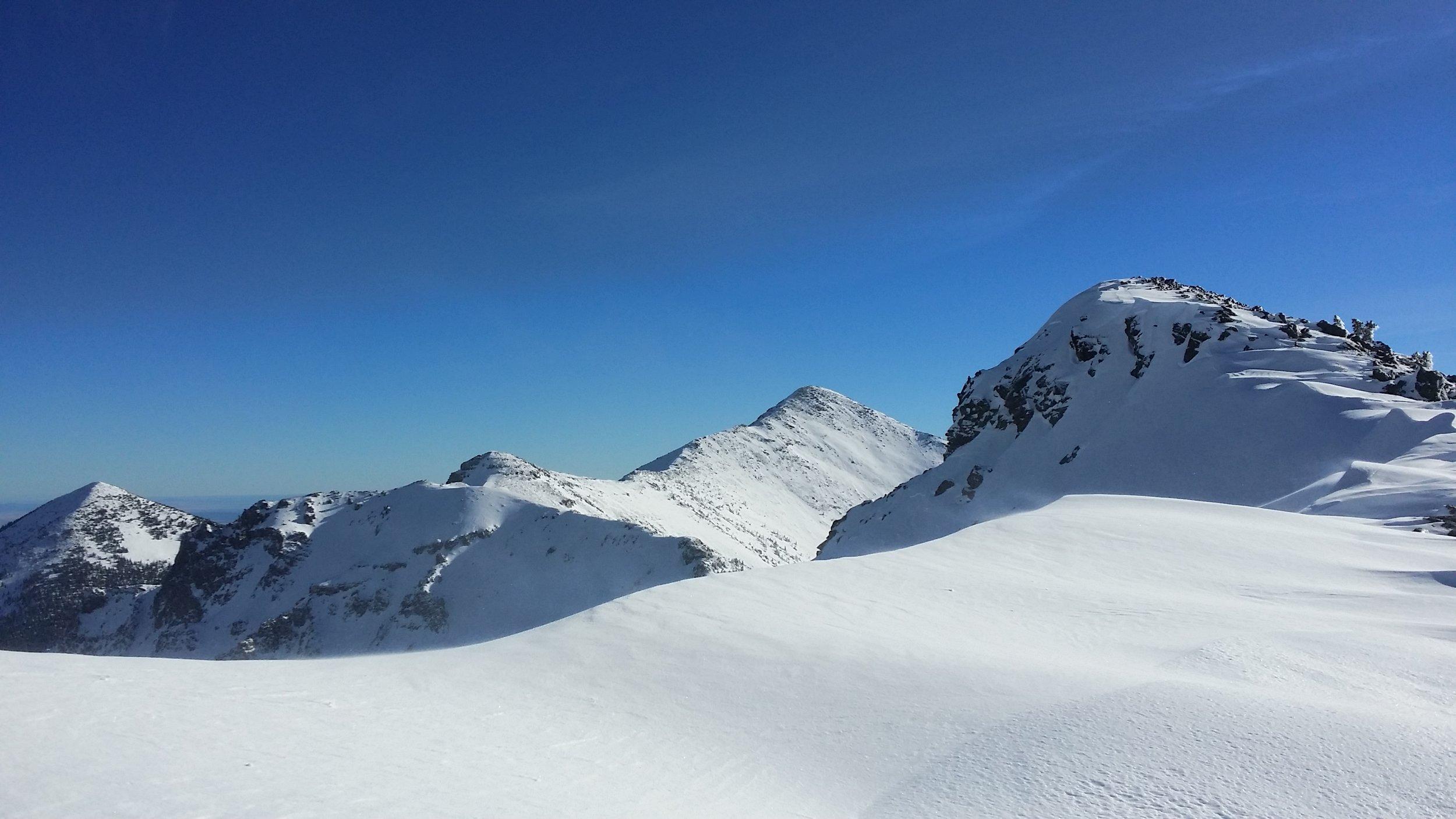 Looking down the ridge to Agassiz Peak