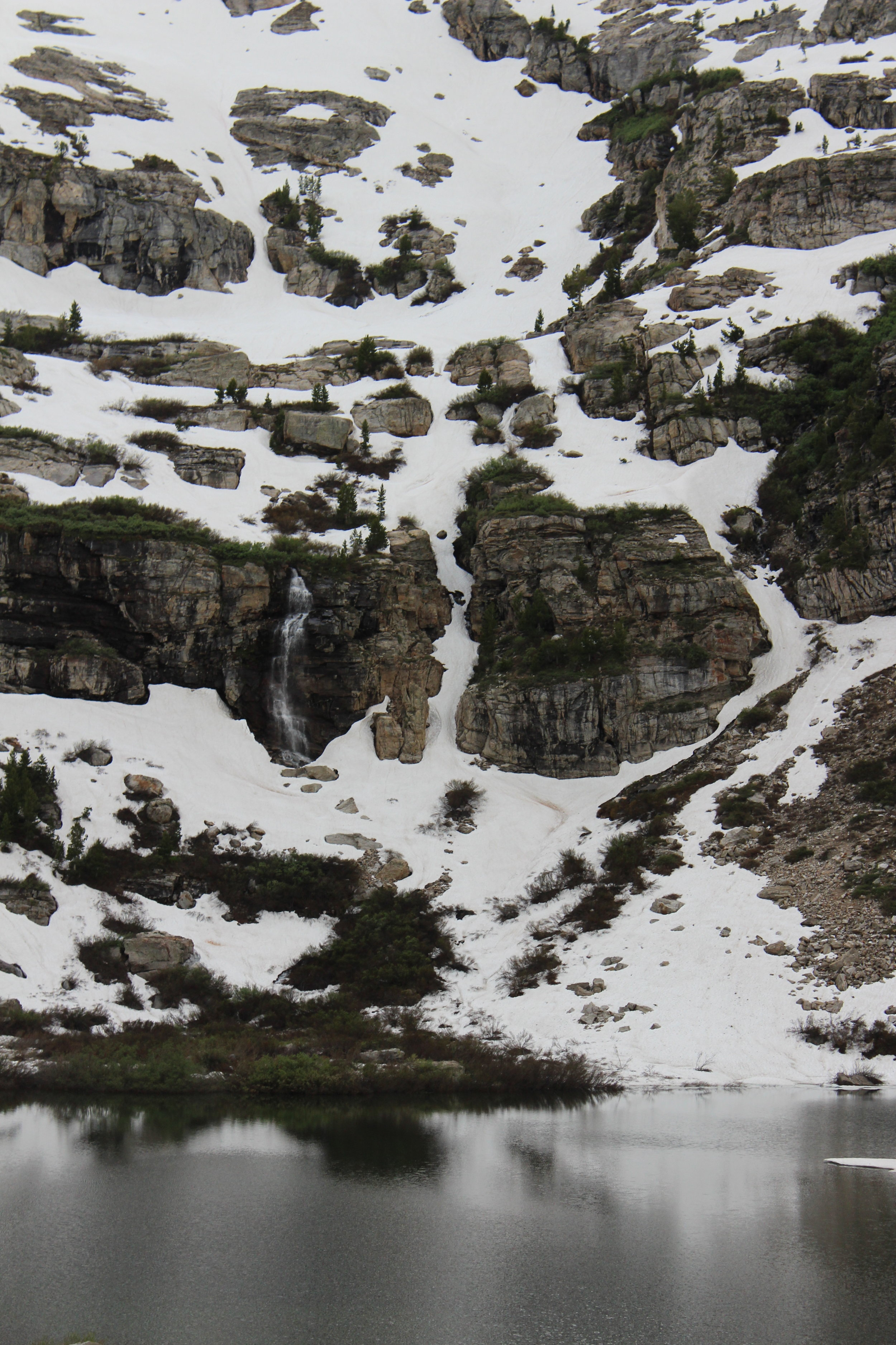 One of about 6 waterfalls feeding Griswold Lake during peak snowmelt