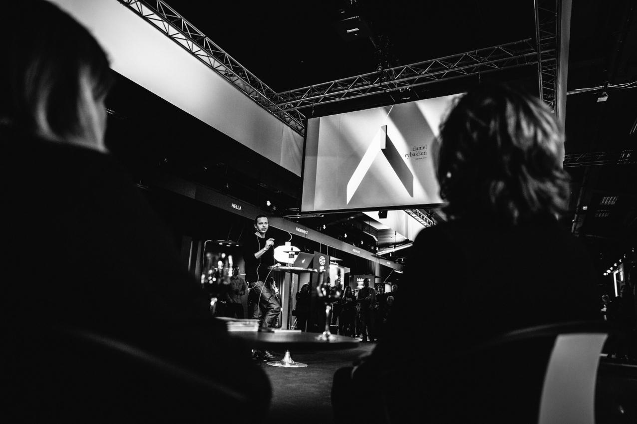 Toinen keynote-puhuja oli Daniel Rybakken. © VILLE MALJA