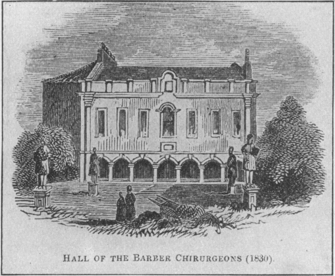 Hall of the Barber Chirurgeons Newcastle 1830