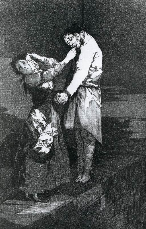 A caza de dientes (Out Hunting for Teeth), 1799, Francisco Goya (1746–1828).  Image courtesy of Wikimedia Commons.