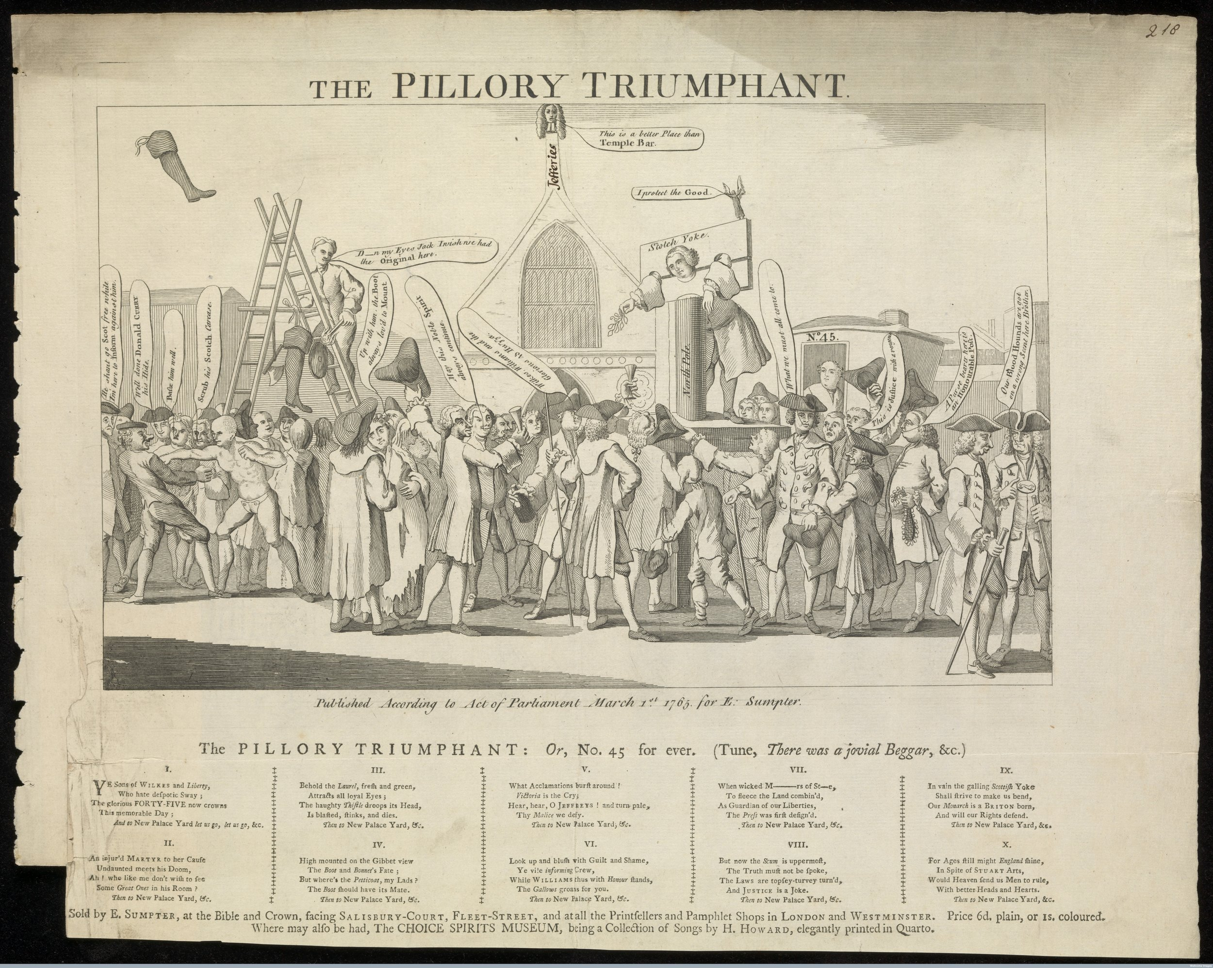 The Pillory Triumphant (1765).  Wellcome Library no. 581543i . Image used under Creative Commons 4.0.