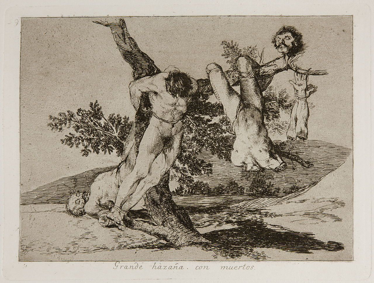 """Francisco Goya, """"Great deeds! Against the dead!"""" (1810s). Source: Wikimedia Commons."""
