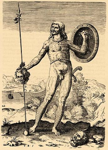 """Theodor de Bry, """"The True Picture of One Picte"""". An engraving after John White, (1588). Source: Wikimedia Commons."""