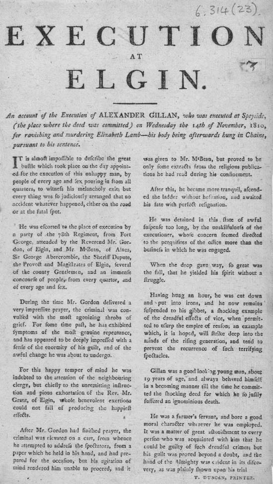 Execution at Elgin Broadside