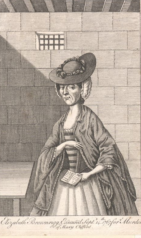 Elizabeth Brownrigg in Prison. Image from the  John Johnson collection . Reproduced under the  Wikimedia Commons Creative Commons licence.