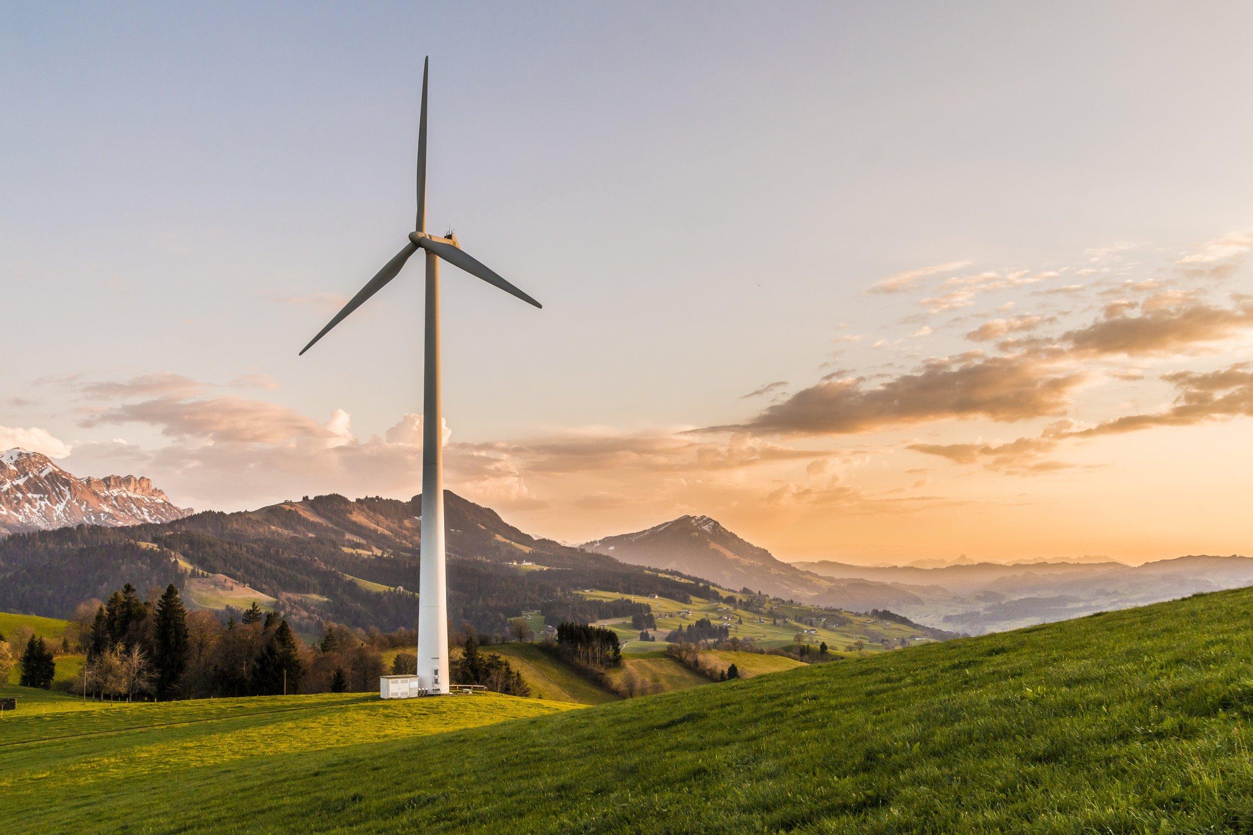 Wind Turbine Renewable Energy Wallet.Services DLT