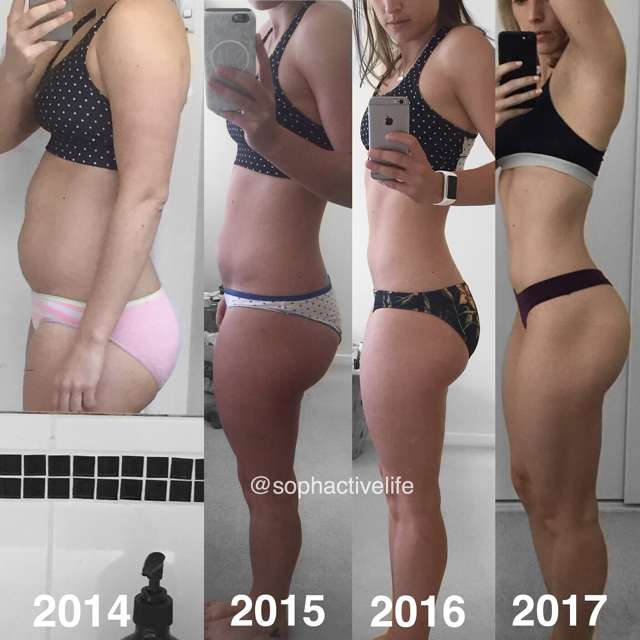 Transformations take time! My progress from 2014 to 2017