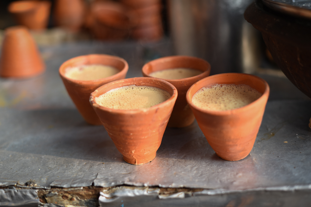 Calcutta-style kulhad chai.