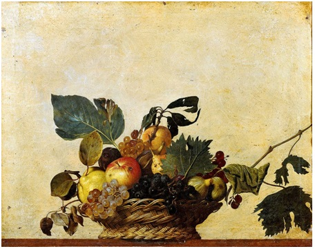 Michelangelo Merisi da Caravaggio , Basket of Fruit, circa 1595