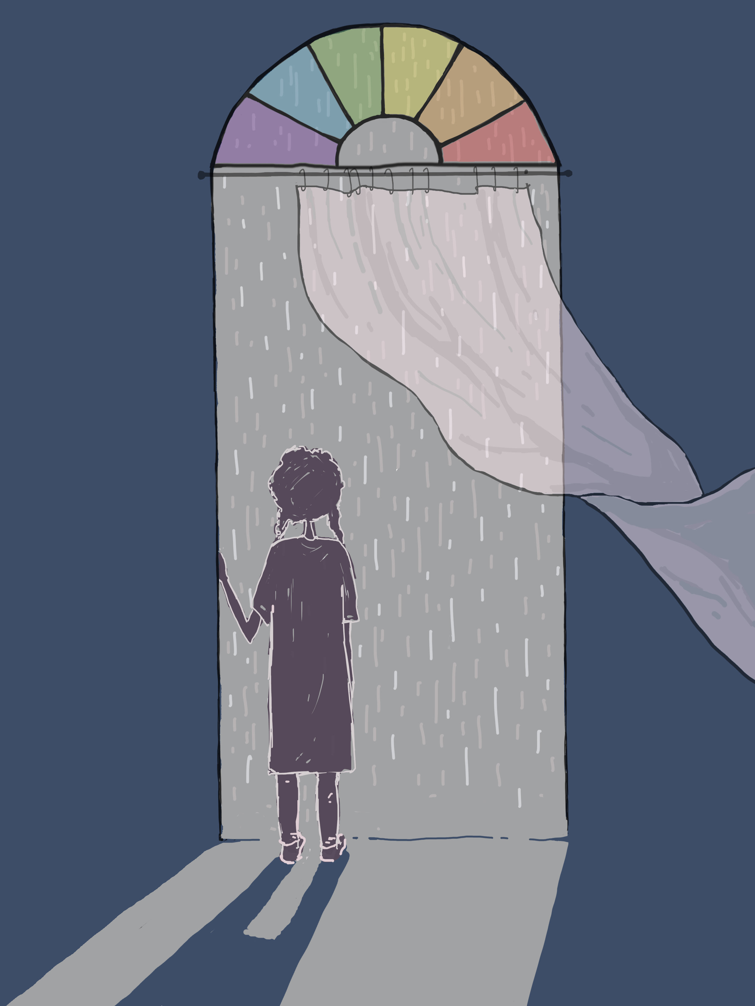 Girl and the rain,  by Monjira Sen for TLJ