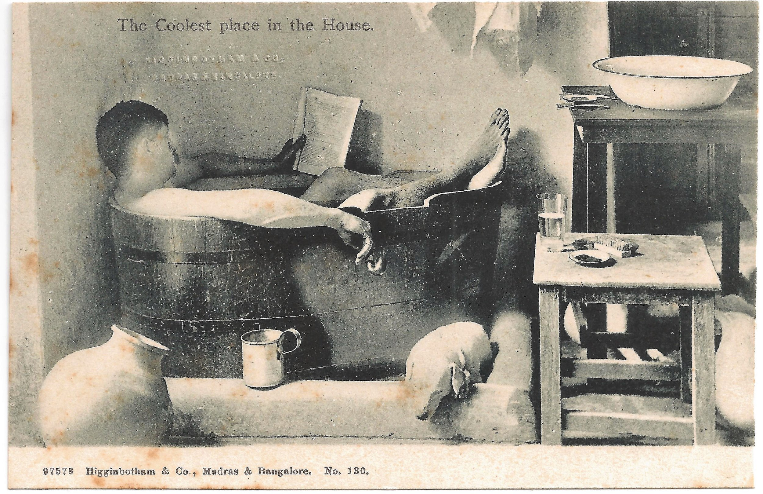 """The Coolest Place in the House"". Published by Higginbotham & Co., Madras & Bangalore. Early 20th century."