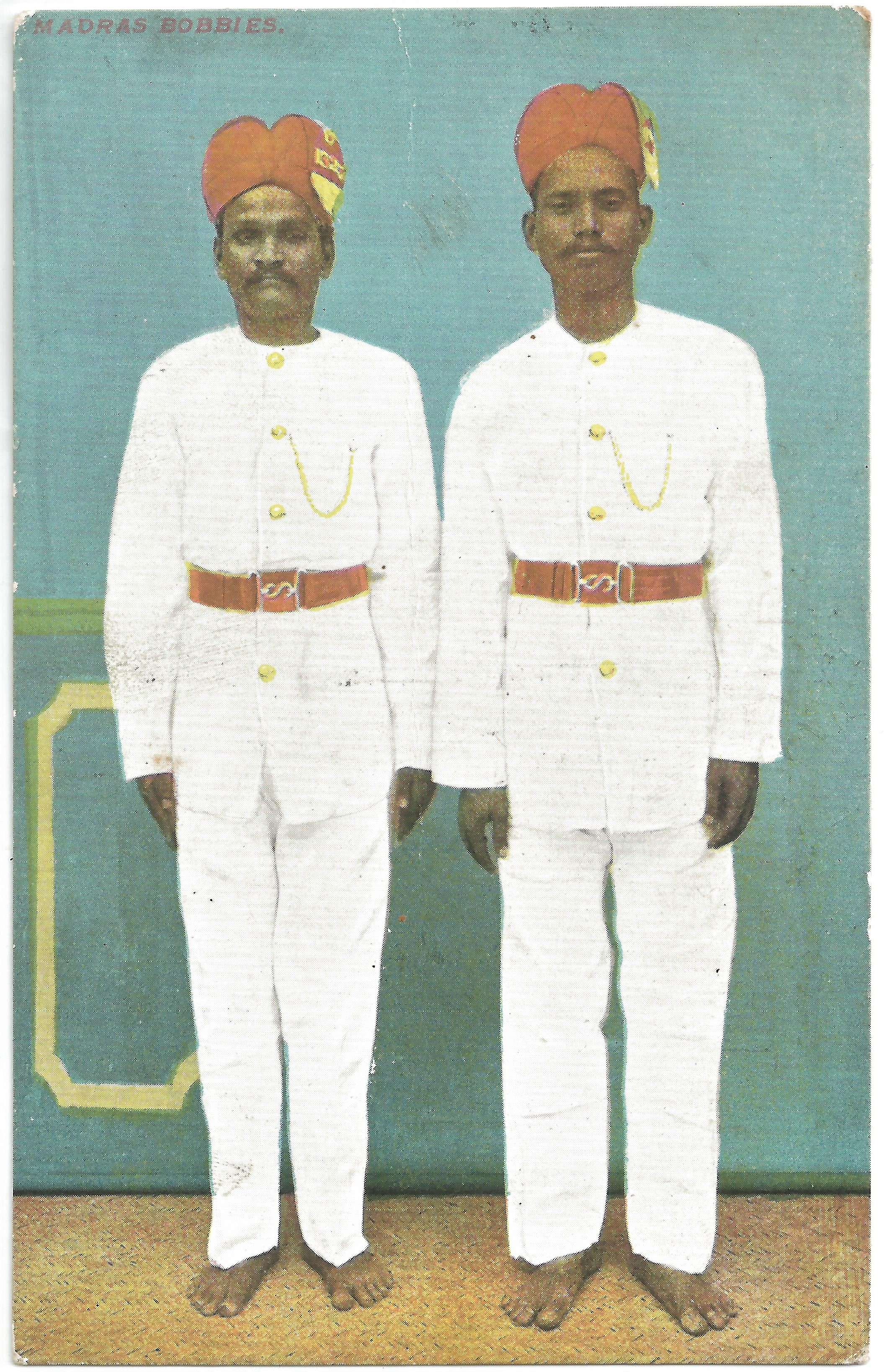"""Madras Bobbies"". Publisher unknown. Early 20th century."