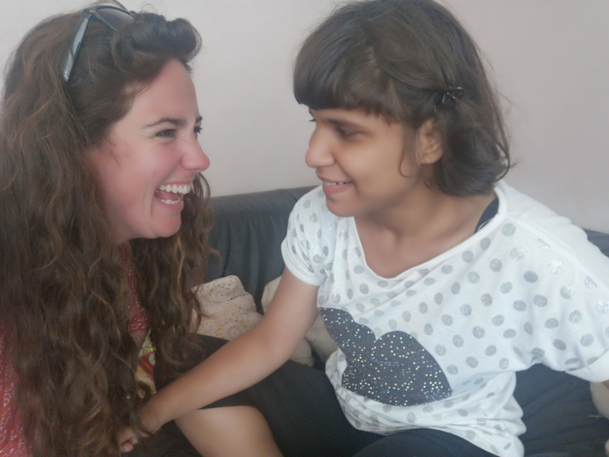 Genevieve with Cristina