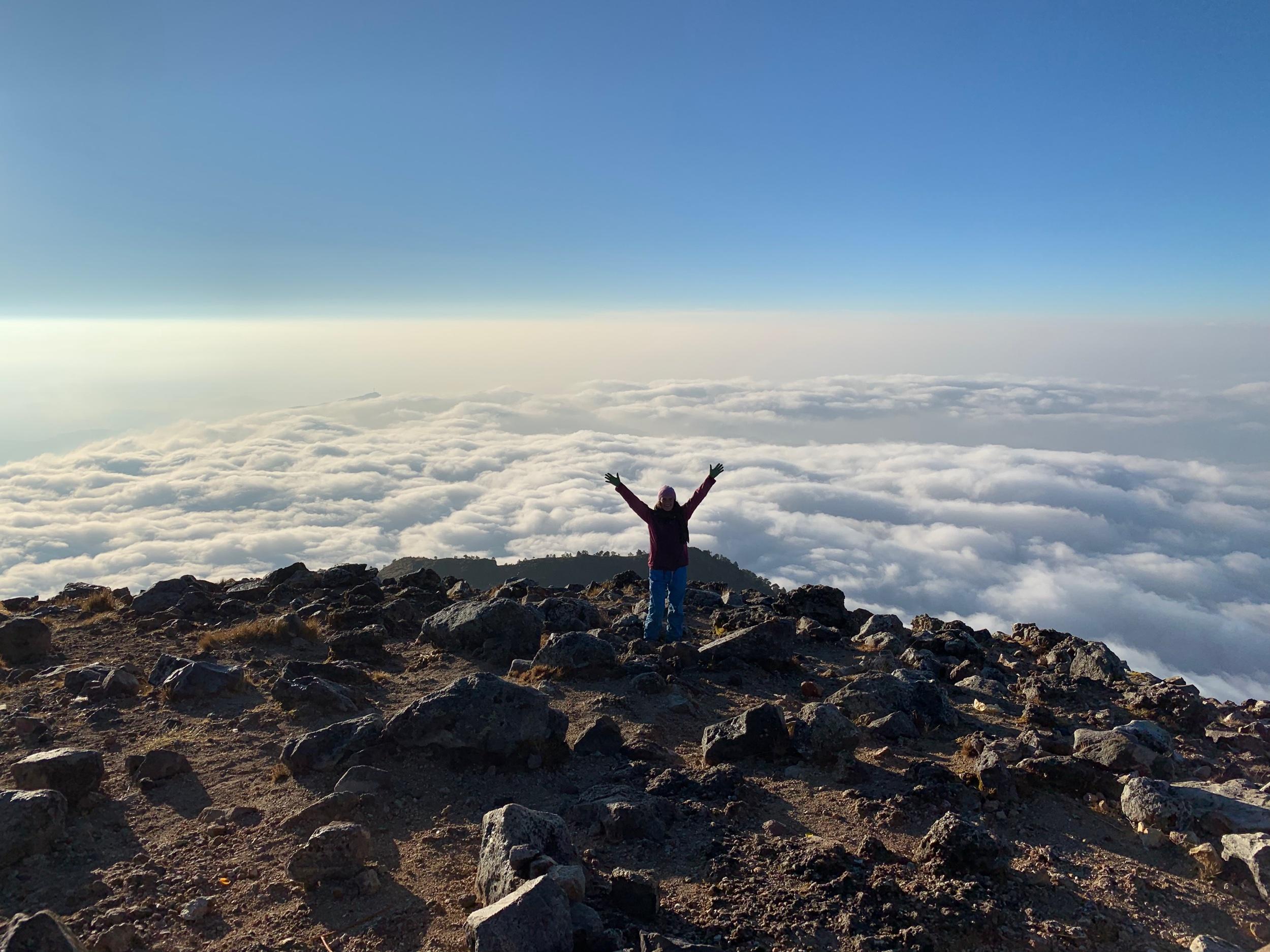 Me at the top of Tajumulco in Guatemala!